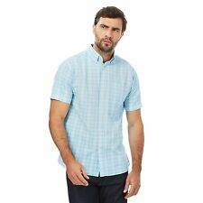 Maine New England Mens Light Blue Checked Shirt From Debenhams