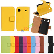 For Samsung Galaxy S i9000 S1 i9001 Genuine Leather Stand Wallet Case Cover Skin