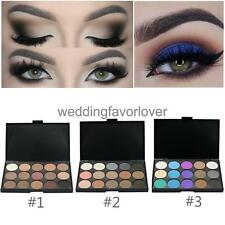 15Color Makeup Matte Eye Shadow Palette Shimmer Eyeshadow Neutral Nude Smoky