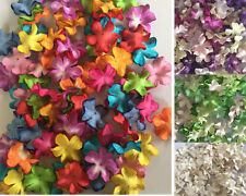 100 X Blossoms Mulberry Paper Flowers 20 mm 0.7 inch Embellishment Scrapbooking
