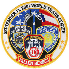 Fallen Heroes 9-11, 2001 Large Embroidered Momorable Iron On Patch