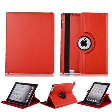 360 Rotating Leather Smart Stand Screen Protector Soft Case Cover For iPad 2 3 4
