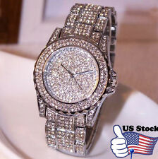 USA Luxury Women Watches Rhinestone Ceramic Crystal Quartz Lady Dress Watches