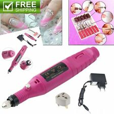 Polish Pen Shape Electric Nail Drill Machine Art Salon Manicure File Tool Set BX
