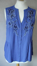 NEW - M&S per una - 8 - 16 - gorgeous Royal BLUE embellished TOP/ tunic - BNWoT