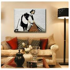 Alonline Art - POSTER Or STICKER Decals Vinyl Cleaning Lady Banksy Wall Decor