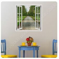 Alonline Art - POSTER Or STICKER Decals Vinyl Scenic Road Path Fake 3D Window