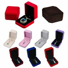 Fashion Velvet Engagement Wedding Jewelry Display Earring Ring Pendant Gift Box