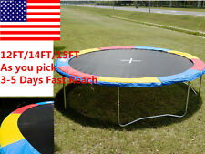 US Trampoline Safety Pad EPE Foam Spring Cover Frame Replacement Multi Size