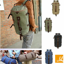 Outdoor Hiking Travel Canvas Backpack Shoulder Rucksack Gym Duffle Luggage Bag