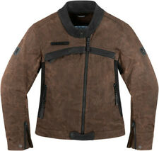 ICON 1000 WOMENS HELLA BROWN Leather Jacket FREE SHIPPING
