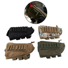 Tactical Hunting Rifle Shotgun Buttstock Cheek Rest Ammo Shell Pouch Holder MF