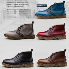 Mens Genuine leather Winter boots Waterproof snow boots velvet warm work shoes