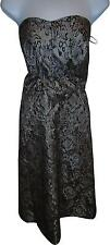 USED Ladies Inspire Cream And black Patterned Mesh Dress Size 24 (MJ.S)