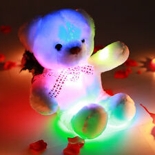 Teddy Bear LED Inductive Stuffed Animals Doll Plush Toy Colorful Glowing Gift