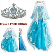Kids Girls! Dresses Elsa Frozen dress costume Princess Anna party dresses 2-8Y!.