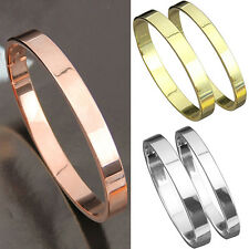 Men's Women's Copper Lover Polished Cuff Bangle Gift Bracelet Wristband Deft