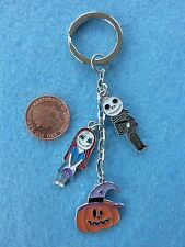 Nightmare Before Christmas JACK SKELLINGTON Sally Charm Keyring Birthday Gift 19