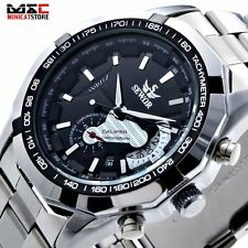 Mens Mechanical Skeleton Wrist Watch Analog Stainless Steel Sport Watch Gift New