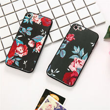 Rubber Soft TPU Floral Pattern Ultrathin Phone Case Cover for iPhone 6 6s 7 Plus
