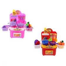 Children Simulation Kitchen Cooking Cookware Role Play Pretend Toy Cooker