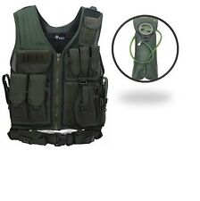 SWAT Style Tactical Vest Body Defense Protection Vest W/ Free Hydration Bladder
