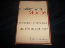 Tuesdays with Morrie by Mitch Albom (1997, Hardcover) an old man. a young man
