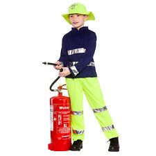 Boys Fireman Rescue Fancy Dress Costume for Fireman Firefighter Fire Cosplay Out