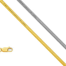 """14k Solid Gold 0.9mm Round Snake Chain Necklace 16"""" 18"""" 20"""" 24"""""""