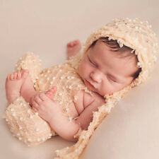 2PC Newborn Baby Knit Crochet Hat +Romper Costume Photo Photography Prop Outfits
