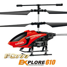 Mini Rc Helicopter Remote Control W Alien Led Hand Sensor Ufo Aircraft Metal New