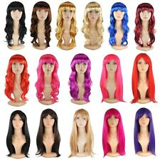 Party Cosplay Wigs Full Head Multi Colors Bangs Wig Lady Women's Fancy Dress h1