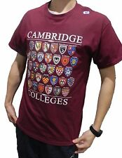 Cambridge Colleges T-shirt - Maroon - Colleges of Cambridge, England