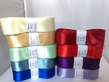 22 Metres SINGLE FACED SIDED  SATIN RIBBON 25,40,50mm- Many Colours
