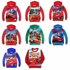Kids Boys Girls McQueen SpiderMan Cartoon Sweater Hoodie T-Shirt Age 2-8 Years