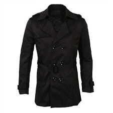 Mens Winter Slim Double Breasted Trench Coat Long Jacket Overcoat Outwear N D1M0