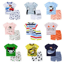 Baby Boy/Girl Summer Cotton Clothing Suit (Shirt+Pants) Infant Kid Clothe Set NG