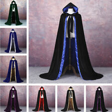 2018 New Gothic Hooded Velvet Cloak Gothic Wicca Robe Medieval Witchcraft  Cape