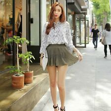 New Lady Women's Sweet Fashion Above Knee Short Culottes Elastic Pleated LM02
