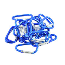20 Carabiner D-Ring Key Chain Clip Snap Hook Outdoor Karabiner Camping Keyring