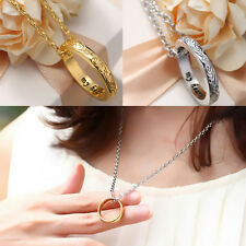 1 Pcs Ring Golden Ring Chain My Heart Silvery Style Hot Necklace Stainless Steel