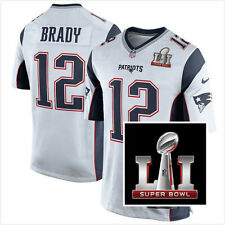 NEW Men's New England Patriots #12 Tom Brady Super Bowl LI Bound Game Jersey