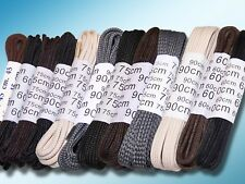Laces, Shoelaces, round or flat, also waxed, Shoe laces