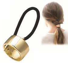 Fashion Women's Hairband Alloy Metal Cuff Wrap Pony tail Holder Tie Hair Clip