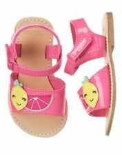 NWT Gymboree Fruit Punch Sweet Lemon Sandals 4,5,6,7,8,9,10 Toddler Shoes
