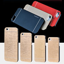 Top Quality Motomo Luxury Metal Brush Gold Case Cover For iPhone  Aluminum Hard