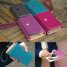 New Envelope Card Wallet Leather Purse Case Cover For Samsung Galaxy S2 S3 LM02