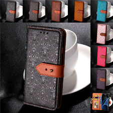 Luxury Genuine Leather Buckle Flip Case Wallet Cover Stand For Samsung Galaxy