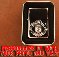 MANCHESTER UNITED PERSONALISED CUSTOM Petrol Lighter Customized Engraved Photo