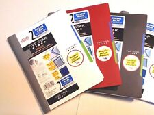 "Five Star Advance 2 Subject College Ruled Notebook 9 1/2"" x 6"" 100 Sheets CHOICE"